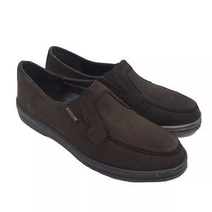 MEPHISTO Leather Loafer Flats Brown Shoes Size 7.5